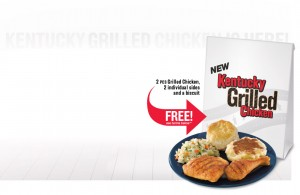 Kentucky Grilled Chicken Two-Piece Meal Coupon
